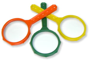 Carson MagniRama Child Magnifying Glasses, Green/Or/Yell JD-3