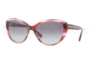 DKNY DY4084 Sunglasses 352911-5716 - Raspberry Tortoise Frame, Gray Gradient Lenses