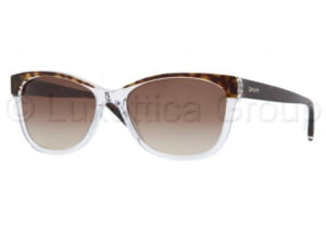 DKNY DY4086 Sunglasses 353313-5617 - Tortoise Crystal Frame, Brown Gradient Lenses