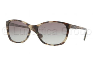 DKNY DY4093 Sunglasses 355411-5617 - Green Havana Frame, Gray Gradient Lenses