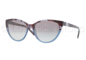 DKNY DY4095 Sunglasses 355511-5417 - Blue Havana Frame, Transparent Gray Gradient Lenses
