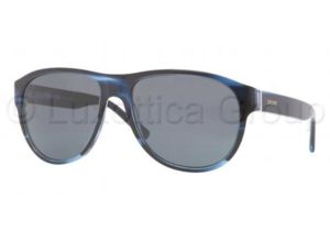DKNY DY4097 Sunglasses 357987-5817 - Striped Blue Frame, Grey Lenses