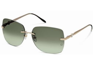 Montblanc MB354S Sunglasses - Shiny Rose Gold Frame Color, Gradient Green Lens Color