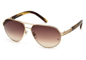 Montblanc MB401S Sunglasses - Shiny Rose Gold Frame Color, Gradient Brown Lens Color
