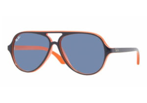 Ray-Ban Junior RJ 9049S Sunglasses Styles - Top Blue On Orange Frame / Blue Lenses, 178-7B-5012