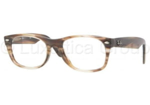 Ray-Ban New Wayfarer Eyeglass Frames RX5184 5139-5218 - Striped Brown Frame