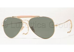 Ray-Ban RB 3030 Sunglasses Styles - Arista Frame / Crystal Green Lenses, L0216-5814