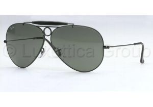 Ray-Ban RB 3138 Sunglasses Styles - Black Frame / Crystal Green 58 mm Diameter Lenses, 002-5809