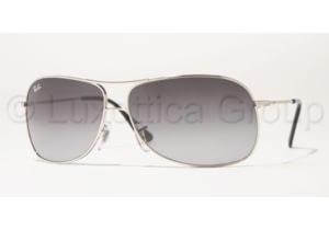 Ray-Ban RB 3267 Sunglasses Styles - Silver Frame / Gray Gradient 64 mm Diameter Lenses, 003-8G-6413