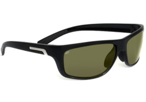 Serengeti Assisi Sunglasses Shiny Black Frame Polar Phd 555nm Lenses 7615