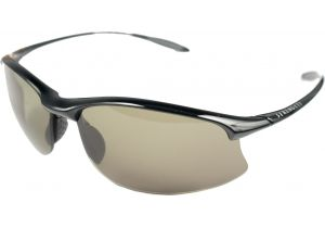 Serengeti Maestrale Sunglasses-Shiny Black Frame Polar PhD 555 Lenses 7712
