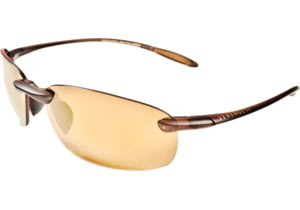 Serengeti Nuvola Sunglasses - Satin Dark Brown/Shiny Cognac Frame, Polar PhD Drivers Gold Lenses 7717