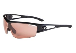 Tifosi Logic Sunglasses - Gloss Black Frame, High Speed Red Fototec Lenses 0050300230