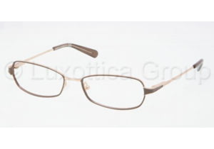 Tory Burch TY1024 Eyeglass Frames 385-5216 - Brown Gold Frame, Demo Lens Lenses