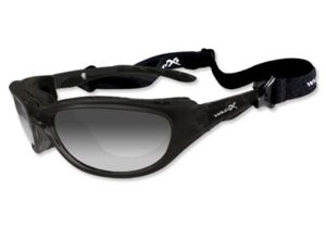 Wiley-X Air Rage Sunglasses - LA Grey Light Adjusting Lens/ Gloss Black Frame 696