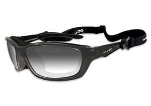 Wiley X Brick Sunglasses - LA Grey Light Adjusting Lens/ Metallic Black Frame 856
