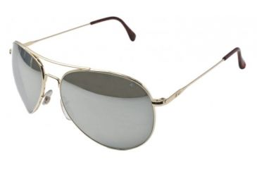 AO II 8-Base Sunglasses, Gold, Comfort Cable, Silver Mirror Lens, 55mm, Sm/Med G-SMP-CC-55