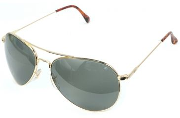 AO II 8-Base Sunglasses, Gold, Wire Spatula, Grey Poly Lenses, 58mm, Polarized G-CCGPP-WS-58