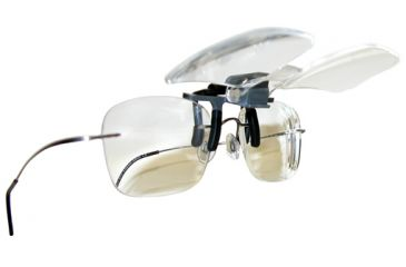 Carson Clip & Flip 1.5x Clip-on, Flip-up Magnifying Lenses for Eyeglasses CF-10