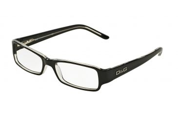 dg dd1146 bifocal eyeglasses black top on clear frame 50 mm prescription lenses 675