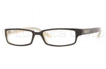 89dc275d66 DKNY DY 4561 Eyeglasses Styles Black Light Horn Frame w Non-Rx 52