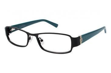 nicole miller benson eyeglass frames frame blackteal size 5217mm nmbenson01
