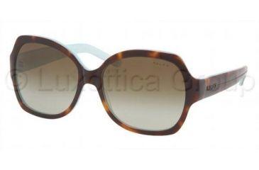 Ralph RA5108 SV Prescription Sunglasses, Light Tort/Turquoise Frame / 58 mm Prescription Lenses, 601 13 5816