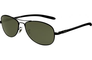 Ray-Ban RB 8301 Sunglasses Styles - Black Frame, Crystal Green 56 mm Lenses, 002-5614