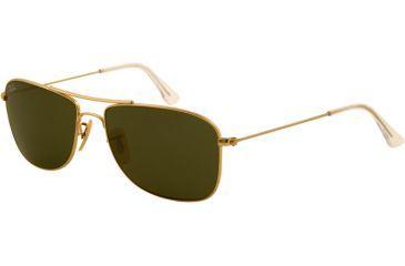Ray-Ban RB3477 Sunglasses 001-5616 - Arista Frame, Crystal Green Lenses