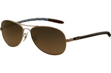 Ray-Ban Sunglasses RB8301 029/98-5914 - Matte Gunmetal Frame, Crystal Gray / Blue Polarized Lenses