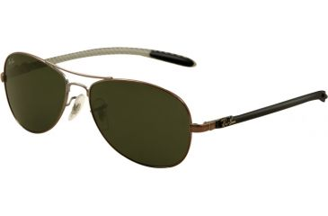 Ray-Ban Sunglasses RB8301 131-5914 - Shiny Gunmetal Frame, Green Lenses
