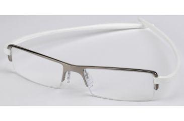 tag heuer reflex 2 eyeglasses pure framewhite temples clear lens 3723 - White Frame Eyeglasses