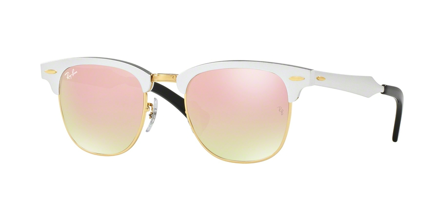 9dba35be91 Ray-Ban CLUBMASTER ALUMINUM RB3507 Sunglasses FREE S H RB3507-136-N5 ...
